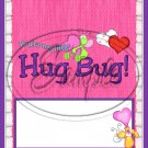 Hug Bug Pink ~ Valentine's Day & General Love  ~ Standard 1.55 oz Candy Bar Wrapper  SOE