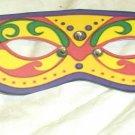 Yellow Mardi Gras Mask ~ Paper Party Favors ~ 1 Dozen
