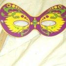 Purple & Yellow Mardi Gras Mask ~ Paper Party Favors ~ 1 Dozen