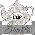 Gray Grey Alice In Wonderland Inspired By Tea Party ~ Teapot Treat Tote