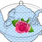 Blue Rose  Tea Party ~ Teapot Treat Tote ~ 1 Dozen