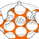 Orange Large Polka Dot  Tea Party ~ Teapot Treat Tote ~ 1 Dozen