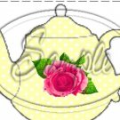 Yellow Rose Teapot Tea Party ~ Teapot Treat Tote ~1 Dozen