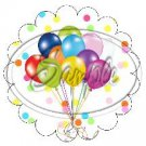 Happy Birthday Balloons Scallop Cupcake Toppers ~ Set of 1 Dozen