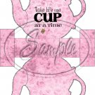 Pink Floral Take Life One Cup At a Time ~ Teapot Treat Tote