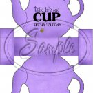 Purple Take Life One Cup At a Time Teapot  ~ Teapot Treat Tote