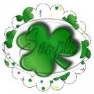 St. Patrick's Day Celebration Scallop Cupcake Toppers ~ Set of 1 Dozen