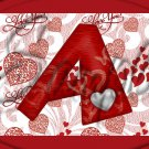 I Love You Red Heart  Letters ~  Alphabet MINI Candy Bar Wrapper