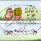 Stuck on You Happy Valentine's Day  ~ Valentine's Day  ~ Standard 1.55 oz Candy Bar Wrapper  SOE