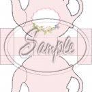 Pastel Pink ~ Teapot Treat Tote ~ 1 Dozen