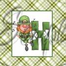 St. Patrick's Day Leprechaun Letters ~  Alphabet MINI Candy Bar Wrapper