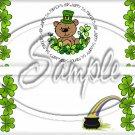 St. Patrick's Day Bear #3 ~ Standard 1.55 oz Candy Bar Wrapper  SOE