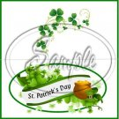 Happy St. Patrick's Day White Banner ~ Treat Bag Topper