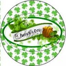 Happy St. Patrick's Day Banner  ~ St. Patrick's Day Cupcake Toppers ~ Set of 1 Dozen