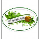 "Happy St. Patrick's Day White Banner   ~ Vertical  ~ 6"" X 8"" Foil Pan Lid Cover"