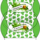 Happy St. Patrick's Day Banner Green Ends #1  ~ Set of 12 Pillow Treat Gift Box