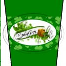 Happy St. Patrick's Day Green Banner #1 ~ Gift Card Holder Latte` Cup