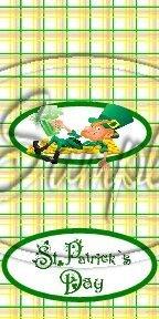 Happy Lazy Leprechaun Plaid ~ MINI Candy Bar Wrappers
