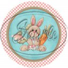 Bunny Belle Easter Cupcake Toppers ~ Set of 1 Dozen