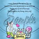 Blue Bunny Kisses ~ Treat Bag Topper