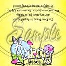 Yellow Bunny Kisses ~ Treat Bag Topper