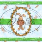Easter Bunny Carrot Wreath ~  Quart Glass Jar