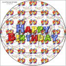 """Happy Birthday Balloons #9 ~ 7"""" Round Foil Pan Lid Cover"""