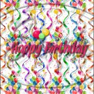"""Happy Birthday Balloons #4 ~ Vertical  ~ 6"""" X 8"""" Foil Pan Lid Cover"""