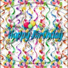 """Happy Birthday Balloons #5 ~ Vertical  ~ 6"""" X 8"""" Foil Pan Lid Cover"""