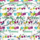 """Happy Birthday Balloons #7 ~ Vertical  ~ 6"""" X 8"""" Foil Pan Lid Cover"""