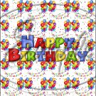 """Happy Birthday Balloons #9 ~ Vertical  ~ 6"""" X 8"""" Foil Pan Lid Cover"""