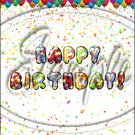 """Happy Birthday Balloons #12 ~ Vertical  ~ 6"""" X 8"""" Foil Pan Lid Cover"""
