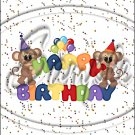"""Happy Birthday Balloons #13 ~ Vertical  ~ 6"""" X 8"""" Foil Pan Lid Cover"""