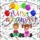 """Happy Birthday Balloons #14 ~ Vertical  ~ 6"""" X 8"""" Foil Pan Lid Cover"""