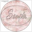 "Happy Birthday Word Collage Pink ~ 7"" Round Foil Pan Lid Cover"