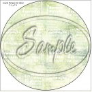 "Happy Birthday Word Collage Light Green ~ 7"" Round Foil Pan Lid Cover"