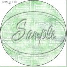 "Happy Birthday Word Collage  Green ~ 7"" Round Foil Pan Lid Cover"