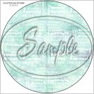 "Happy Birthday Word Collage Light Aqua ~ 7"" Round Foil Pan Lid Cover"