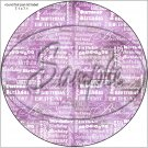 "Happy Birthday Word Collage Purple ~ 7"" Round Foil Pan Lid Cover"