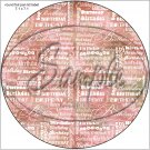 "Happy Birthday Word Collage Red ~ 7"" Round Foil Pan Lid Cover"