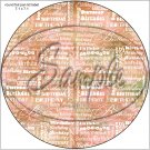 "Happy Birthday Word Collage Orange  ~ 7"" Round Foil Pan Lid Cover"