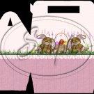 Purple Bunny Twins ~ Gable Gift or Snack Box