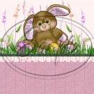 Purple Bunny Twins ~  Pint Glass Jar