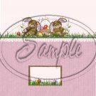 Purple Bunny Twins ~ Standard 1.55 oz Candy Bar Wrapper  SOE