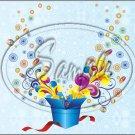 "Happy Birthday #6 ~ Horizontal  ~ 6"" X 8"" Foil Pan Lid Cover"