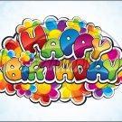 "Happy Birthday #7 ~ Horizontal  ~ 6"" X 8"" Foil Pan Lid Cover"