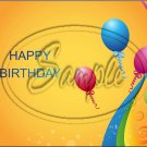 "Happy Birthday #8 ~ Horizontal  ~ 6"" X 8"" Foil Pan Lid Cover"