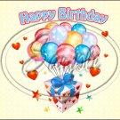 "Happy Birthday #12 ~ Horizontal  ~ 6"" X 8"" Foil Pan Lid Cover"