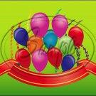 "Happy Birthday #13 ~ Horizontal  ~ 6"" X 8"" Foil Pan Lid Cover"