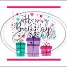 "Happy Birthday #16 ~ Horizontal  ~ 6"" X 8"" Foil Pan Lid Cover"
